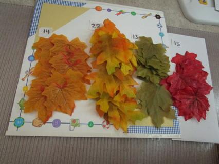 64 various fake leaves