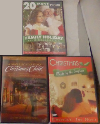Lot of 3 Christmas DVD Movies - Fireplace, Holiday Collection - New, Christmas Child-LAST TIME LIST