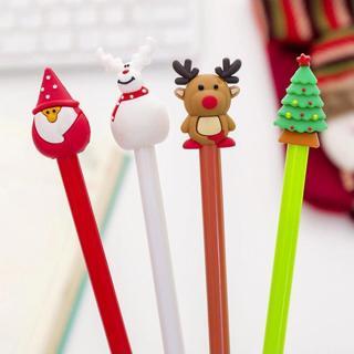 Cartoon Santa Claus Shell Gel Pen DIY Office Stationery and School Supplies Smooth Writing Black a