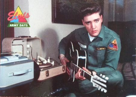 "1992 The River Group Elvis Presley ""Army Days"" Card #46"
