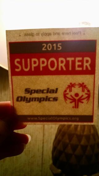 Car window sticker Special Olympics 2015