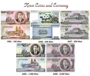 Korea Currency Set 5 Notes UNCIRCULATED HIGH VALUE