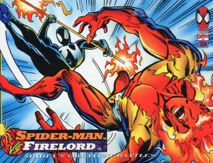1994 Spider-Man: Collectible/Trade Card: Spider-Man vs Firelord