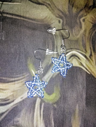 Clear blue earrings(16)