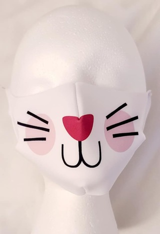 FACE MASK IN A CAT PATTERN? SIZE UNISEX LITTLE ONES***LQQK***