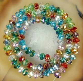 Beautiful Crystal Rondelle Beads
