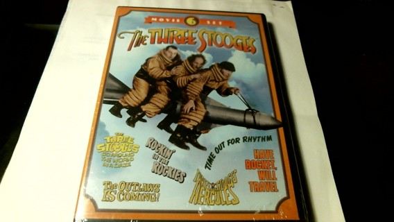 "New Sealed Unopened DVD Collection: ""The Three Stooges"" Six Movie Set"