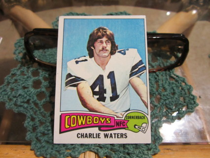 "***1975 TOPPS "" VINTAGE ROOKIE "" FOOTBALL CARD***CHARLIE WATERS***DALLAS COWBOYS***"