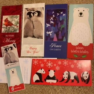 Set of 5 Holiday Cards With Envelopes