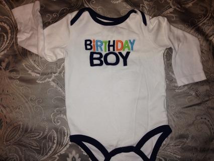 Carters 24months Birthday Boy Shirt Onesie EUC