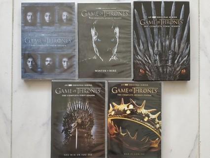 Game of Thrones Seasons 1-2-6-7-8 DVD Open Box