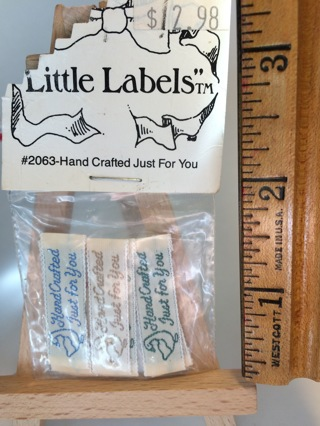 "Vintage Sew-In ""Handcrafted Just for You"" Labels"