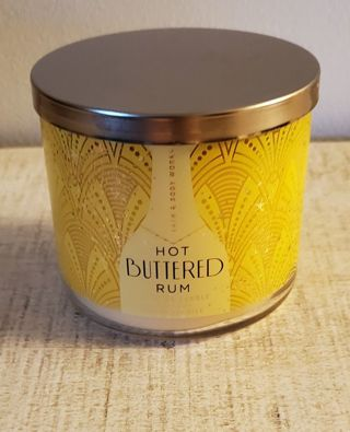 Bath & Body Works Hot Buttered Rum 3 Wick Candle