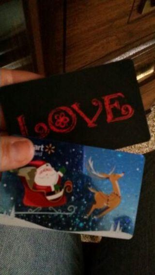 2 EMPTY Walmart gift cards