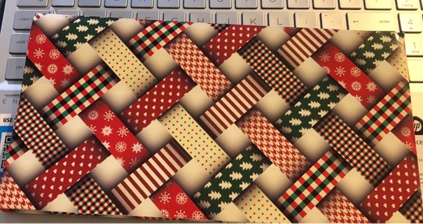 "BN Holiday Wrapping Paper. 20"" x 30"" Two Sides You Can Use; and 2 Matching Gift Tags"