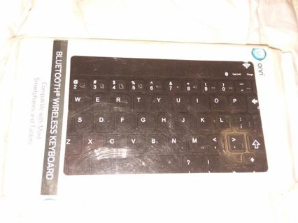 Bluetooth wireless keyboard compatible with most smartphones and tablets
