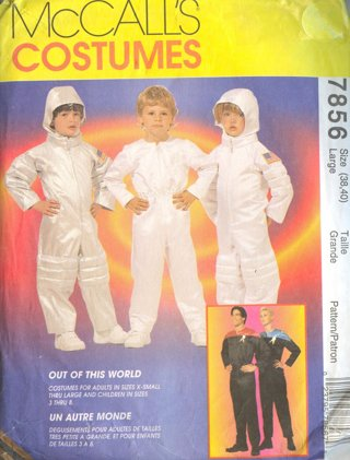 Free: McCall\'s Costume Sewing Pattern #7856 ~ NASA Space Suit ...