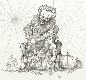 Random Adult Halloween Coloring Pages