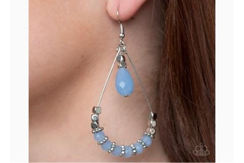 Fishhook earrings blue