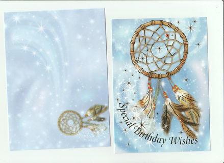 Birthday Card With Envelope Dream Catcher