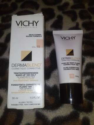 FULL SIZE!!! Vichy Dermablend Corrective Foundation 15 Opal 30ml 1.0 Ounce