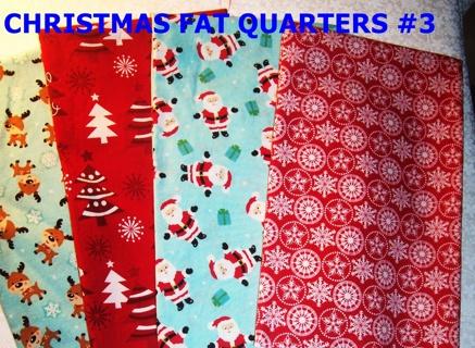 4 CHRISTMAS FAT QUARTERS #3