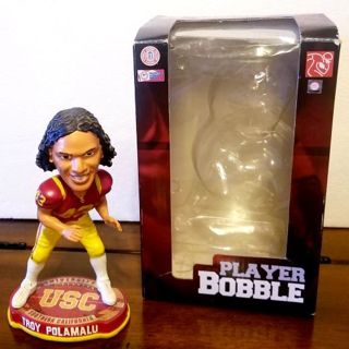 USC > Troy Polamalu >FOCO forever collectibles bobblehead >#'d 102/2012 rare & EXELLENT!