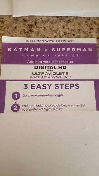 Batman Vs Superman Dawn of Justice UV Digital Download
