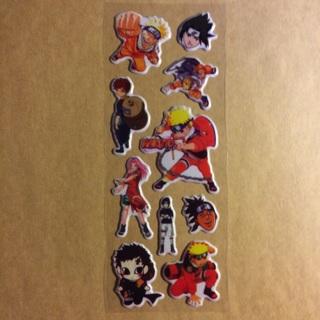 Anime Naruto Uzumaki Sticker Sheet ~ 10 TOTAL ~ BRAND NEW!