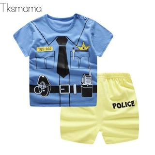 2019 Baby Gentleman Boy Clothing. Summer Toddler Kids T-shirt +shorts Clothes Set Baby 6months -24