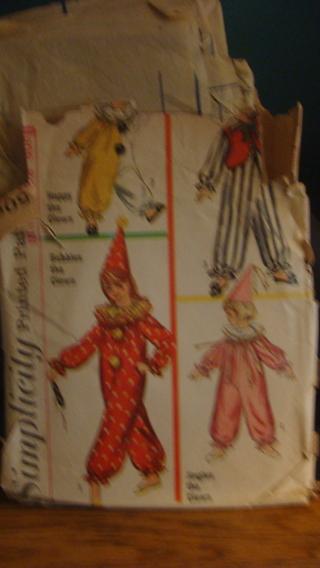 vintage pattern for clown