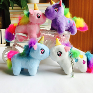 10cm Anime Unicorn Stuffed Animal Dolls Cartoon Unicorn Plush Toy Keychain