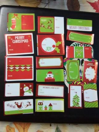 18ct Christmas Gift Labels