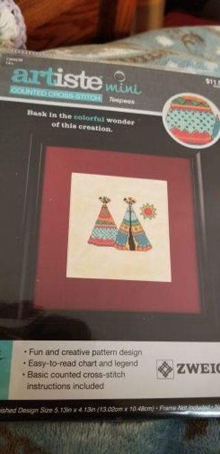 Counted cross stitch kit- Teepees