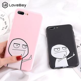 Lovebay Case For iPhone XS Max 7 8 6 Plus Cartoon Middle Finger Phone Cases For iPhone X XR XS 6 6
