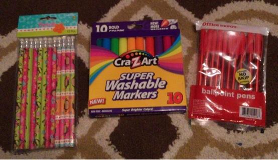 School Lot Office Depot Red Pens Crazart Washable Markers Monkey Pencils New