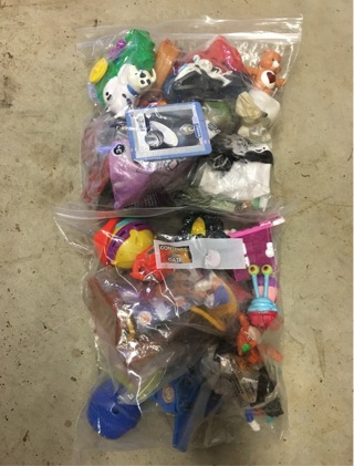 3RD LARGE ZIP LOCK BAGS FULL OF TOYS
