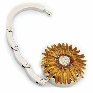 Round Metal Folding Diamond Flower Handbag Bag Purse Table Hook Hanger Holder LW