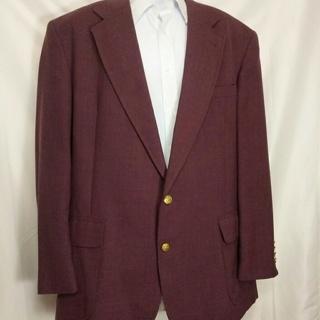 ANDHURST 2 Button Blazer Sportcoat Jacket Brass Buttons Mauve 42R