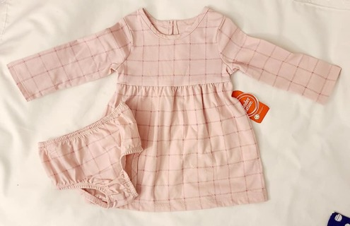 BABY GIRL 12 MONTHS DRESS AND DIAPER COVER L@@K HOW CUTE
