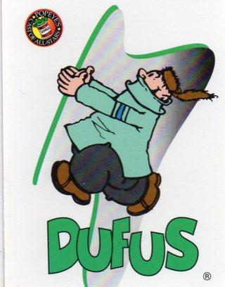 1994 Popeye Comics Collectible Trade card: Dufus