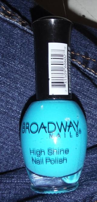 New BROADWAY Nails Nail Polish - blue, high shine