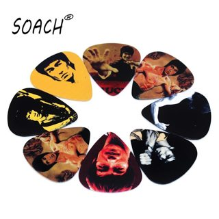 SOACH 10pcs 0.71mm acoutsic guitar paddle two side earrings pick DIY design guitarra accessries pick