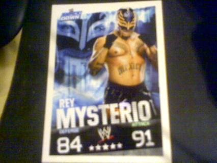 WWE Slam Attax Rey Mysterio card