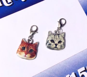 NEW Cat Heads Dangle Charms Accessories Kitty Kat Meow FREE SHIPPING