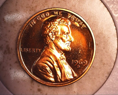 1969 s tone proof lincoln penny