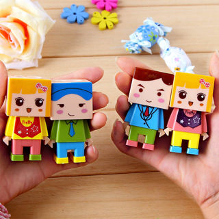 Kids Like Cartoon Pencil Sharpener With Eraser Inside Stationary DIY 2in1 New
