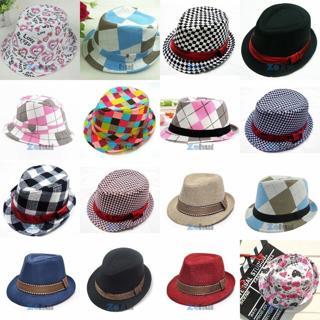 Baby Girl/Boy Toddler Kid Cap Fedora Hat Jazz Cap Photography Cotton Trilby Top