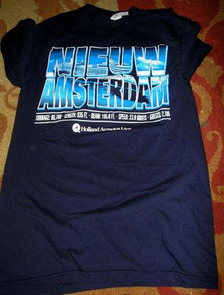 Cool NIEUW AMSTERDAM Holland Cruise line Netherlands T Shirt Unisex adult FB