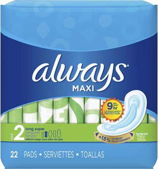 Always Maxi Unscented Pads